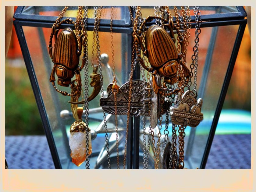 beetle necklaces