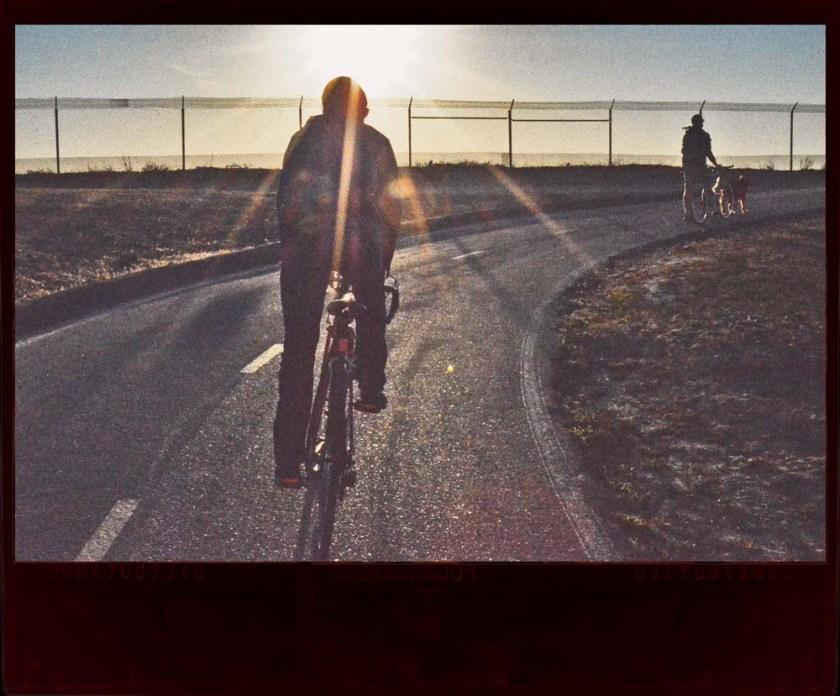 light rays over rider
