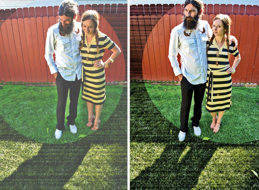 yello striped dress and white western