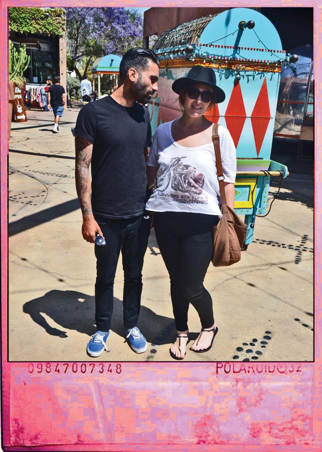 couple wearing black pants