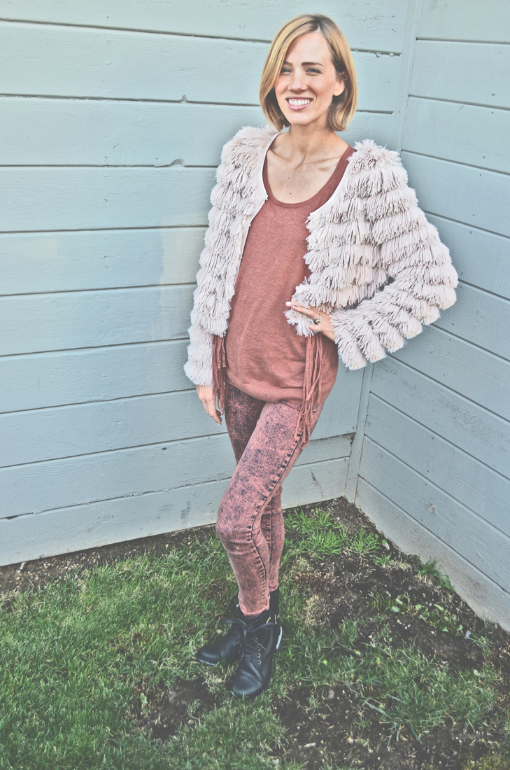 fringe blush jacket