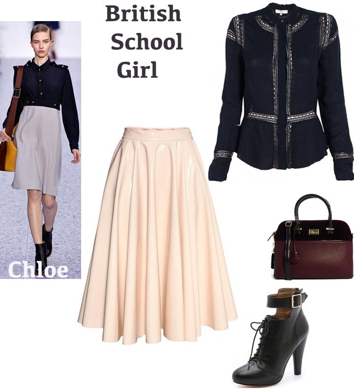 aline leather skirt